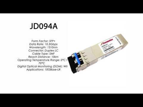 JD094A  |  HP Compatible 10GBase-LR SFP+ 1310nm 10km