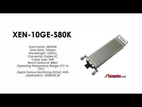 XEN-10GE-S80K  |  ZTE Compatible 10GBase-ZR XENPAK, SMF, 80km, 1550nm