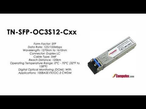 TN-SFP-OC3S12 Cxx   (Transition 100% Compatible Optical Transceiver)