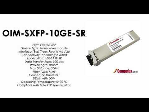 OIM-SXFP-10GE-SR  |  Redback Compatible 10GBASE-SR 850nm 300m XFP