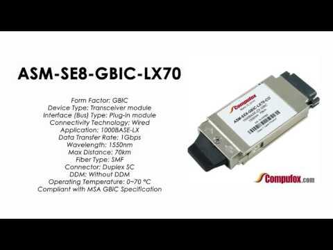 ASM-SE8-GBIC-LX70  |  Redback Compatible 1000BASE-LX 1550nm 70km GBIC