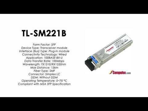 TL-SM221B  |  TP-Link Compatible 100Base-BX Tx1310nm/Rx1550nm 15km SFP
