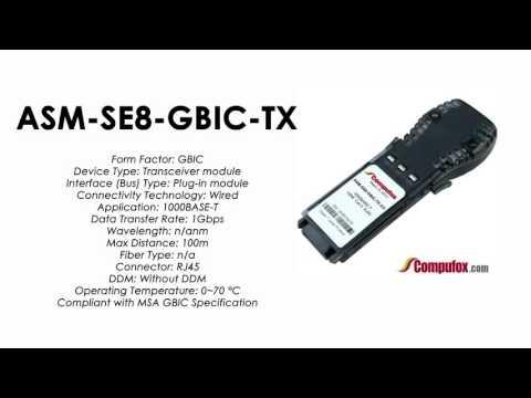 ASM-SE8-GBIC-TX  |  Redback Compatible 1000BASE-T RJ45 100m GBIC
