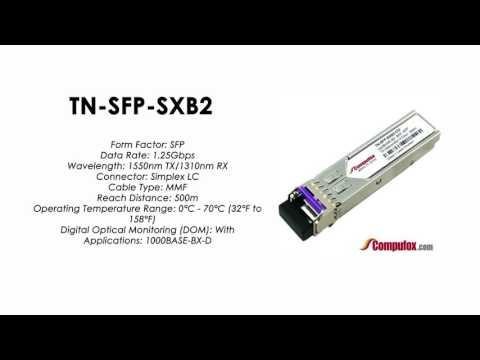 TN-SFP-SXB2    Transition Compatible 1000BASE-BX SFP 1550nmTx/1310nmRx MMF 500m