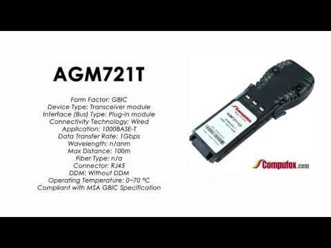 AGM721T  |  Netgear Compatible 1000BASE-T RJ45 100m GBIC