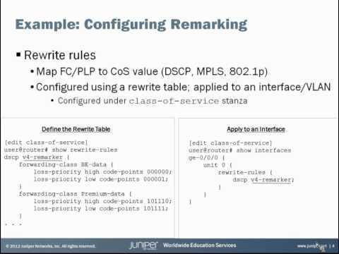 Class Of Service Basics, Part 5: Remarking Learning Byte