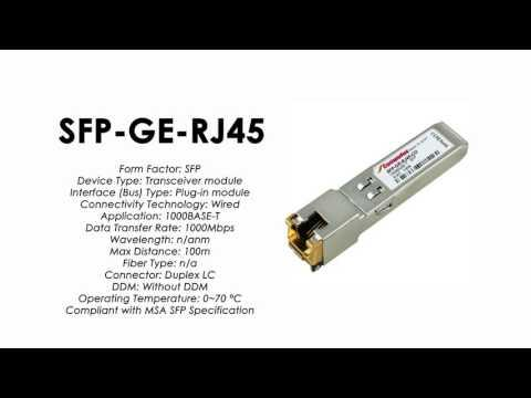 SFP-GE-RJ45  |  ZTE Compatible 1000Base-T SFP RJ45 100m