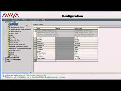 How To Add, Modify And Delete Activity Codes In Avaya Aura Contact Center