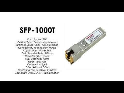 SFP-1000T  |  ZyXEL Compatible 1000BaseT SFP RJ45 100m