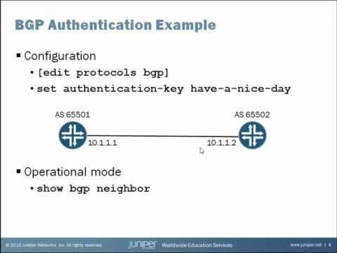 BGP Authentication