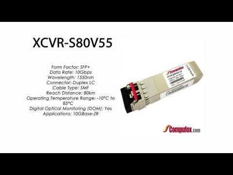 XCVR-S80V55  |  Ciena Compatible 10GBase-ZR 80km 1550nm SFP+