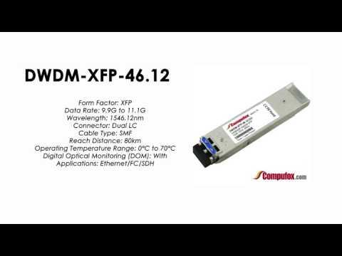 DWDM-XFP-46.12  |  Cisco Compatible 10GBASE-DWDM XFP 1546.12nm 80km
