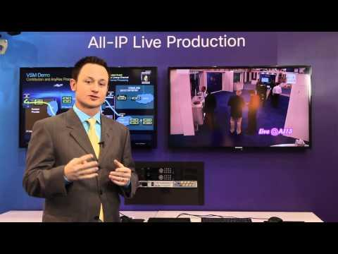 All-IP Live Production Demo At NAB 2013