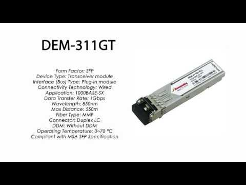 DEM-311GT  |  D-Link Compatible 1000Base-SX SFP 850nm 550m