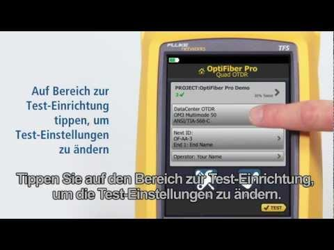 OptiFiber Pro - Demonstration, German Language: By Fluke Networks