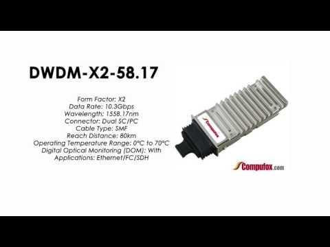 DWDM-X2-58.17  |  Cisco Compatible 10GBASE-DWDM X2 1558.17nm 80km
