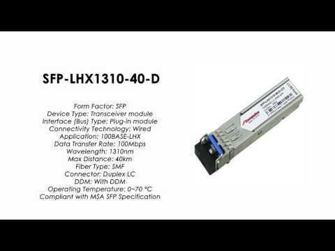 SFP-LHX1310-40-D | ZyXEL Compatible 100BASE-LHX SFP SMF 1310nm 40km DDMI