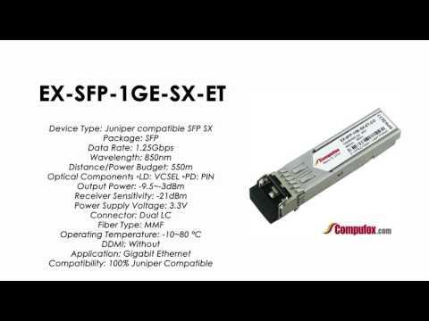 EX-SFP-1GE-SX-ET  | Juniper Compatible 1000BASE-SX SFP 850nm 550m MMF