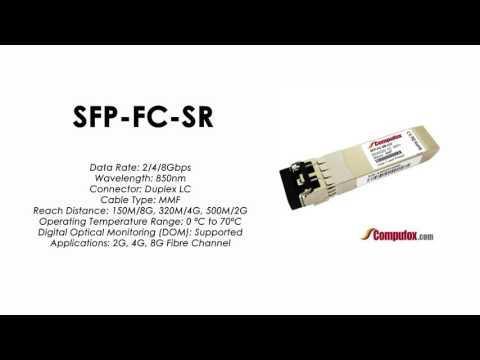 SFP-FC-SR  |  Alcatel Compatible 2/4/8Gbps 850nm 500m SFP+