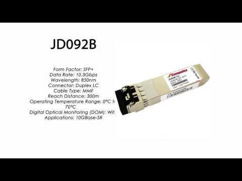 JD092B  |  HP Compatible 10GBase-SR SFP+ 850nm 300m