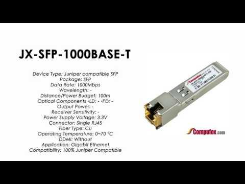 JX-SFP-1000BASE-T  |  Juniper Compatible 1000BASE-T SFP RJ45 100m