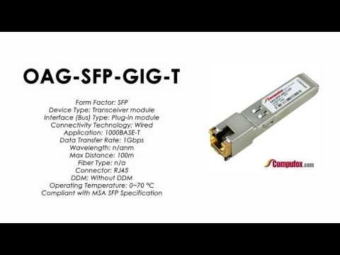 OAG-SFP-GIG-T  |  Alcatel Compatible 1000Base-T RJ45 100m SFP
