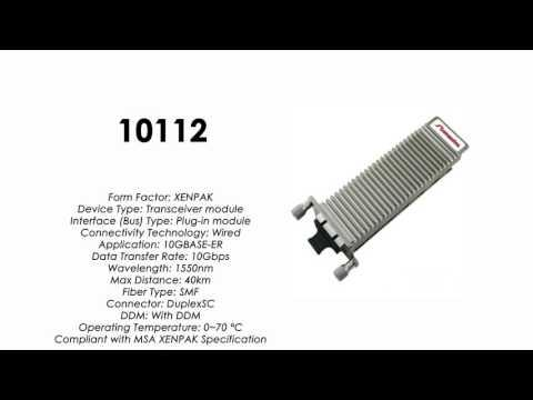 10112  |  Extreme Networks Compatible 10GBASE-ER XENPAK 1550nm 40km SMF