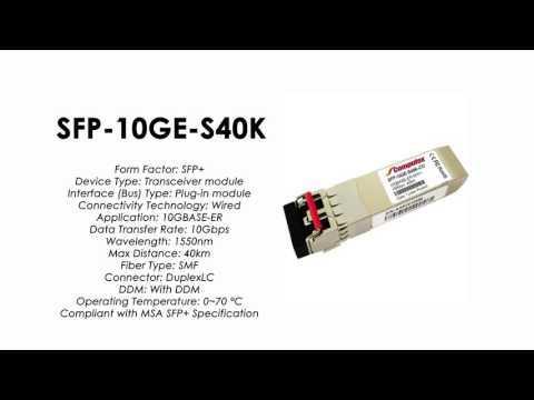 SFP-10GE-S40K  |  ZTE Compatible 10GBase-ER SFP+ SMF 40km 1550nm