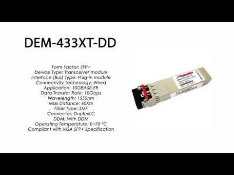DEM-433XT-DD  |  D-Link Compatible 10GBASE-ER SFP+ 1550nm 40km DDM