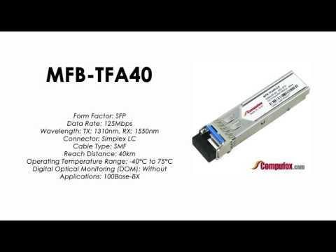 MFB-TFA40  |  Planet Compatible 100Base-BX Tx1310nm/Rx1550nm 40km SFP
