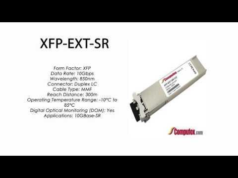XFP-EXT-SR  |  Ciena Compatible 10GBase-SR 300m 850nm XFP