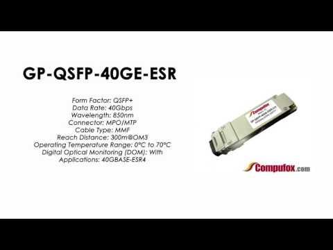GP-QSFP-40GE-ESR | Force10 Compatible 40GBase-ESR4 QSFP+ 300m 850nm