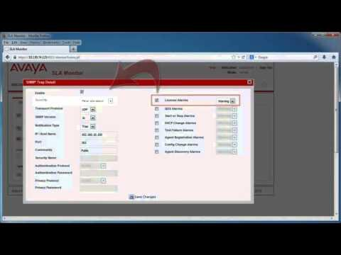 Configuring SLA Mon SNMP Trap Details For Avaya Diagnostics Server 2.0