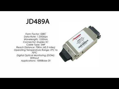 JD489A | HP Compatible 1000Base-ZX 1550nm 70km GBIC