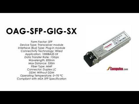 OAG-SFP-GIG-SX  |  Alcatel Compatible 1000Base-SX 850nm 550m SFP