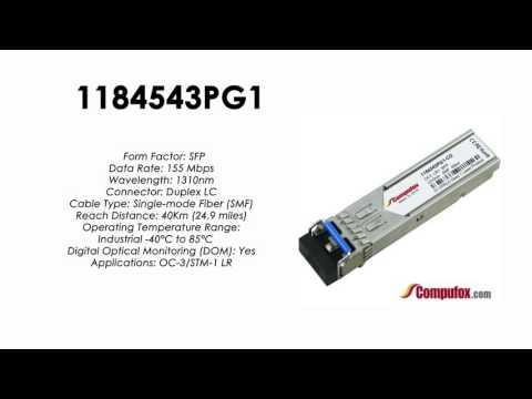 1184543PG1  |  Adtran Compatible OC-3/155Mbps 1310nm 40km SFP