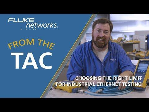 Choosing The Right Limit For Industrial Ethernet Testing By Fluke Networks
