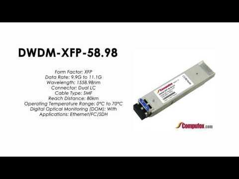 DWDM-XFP-58.98  |  Cisco Compatible 10GBASE-DWDM XFP 1558.98nm 80km