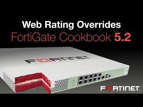 FortiGate Cookbook - Web Rating Overrides (5.2)