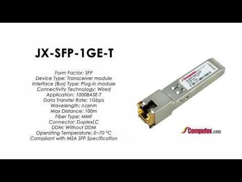 JX-SFP-1GE-T   |  Juniper Compatible 1000BASE-T SFP RJ45 100m