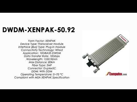 DWDM-XENPAK-50.92  |  Cisco Compatible 10GBASE-DWDM XENPAK 1550.92nm 80km