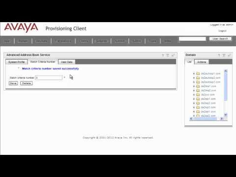 How To Configure Advanced Address Book On The Avaya AS5300