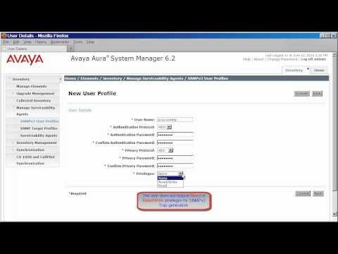 How To Configure System Manager And Session Manager 6.2 To Alarm To A SAL Gateway Using SNMPv3
