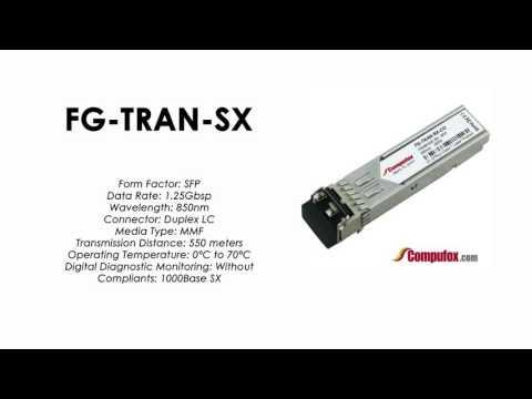 FG-TRAN-SX  |  Fortinet Compatible 1000BASE-SX 850nm 550m SFP
