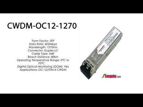 CWDM-OC12-1270  |  Ciena Compatible OC-12/STM-4 CWDM SFP 1270nm 80km
