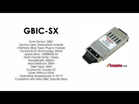 GBIC-SX  |  Alcatel Compatible 1000Base-SX 850nm 550m GBIC