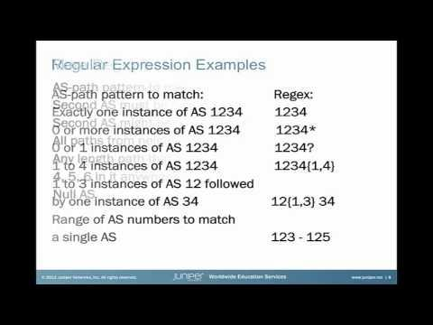 AS-Path Regular Expressions