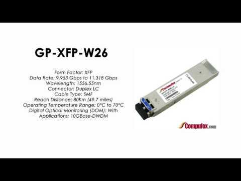 GP-XFP-W26  |  Force10 Compatible 10GBASE-DWDM XFP 1556.55nm 80km SMF