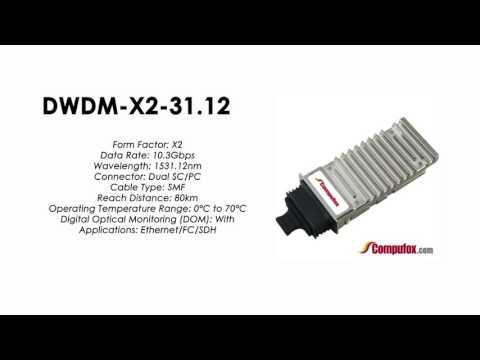 DWDM-X2-31.12  |  Cisco Compatible 10GBASE-DWDM X2 1531.12nm 80km