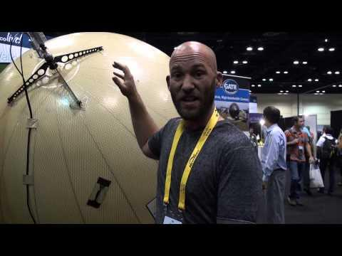 GATR Inflatable Parabolic Dish At Cisco Live 2013